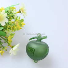 Fashion Christmas Decorative Items Car interior Hanging Items green glass apple