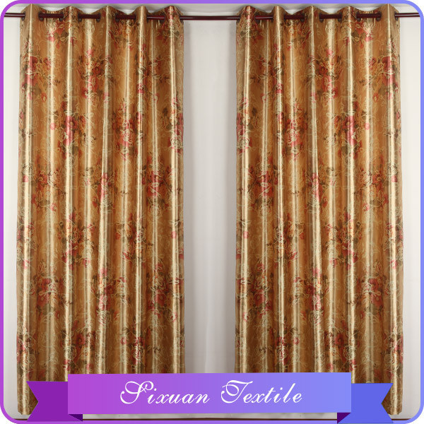 2016 New Design Drapes Elegant Printed Beaded Curtain in China Manufacturer