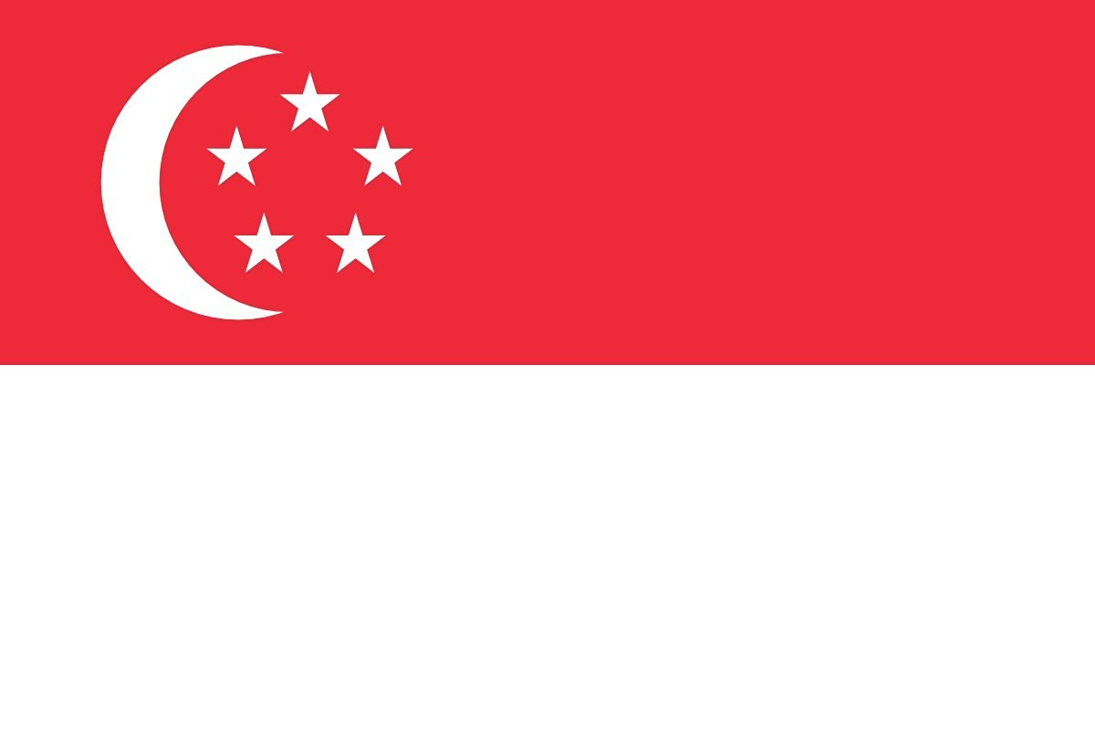 Singapore Flag from SoCal Flags® 3x5 Foot Polyester Singapore National Flag - High Quality Weather Resistant Durable - 100d Material Not See Thru Like Other Brands