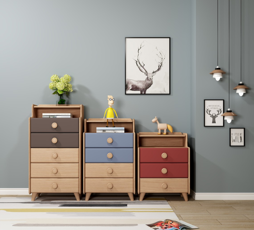 Nordic style children home furniture solid wood and rubber wood kids bedroom furniture