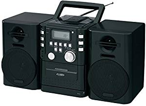 Jensen - Portable Cd Music System With Cassette & Fm Stereo Radio , Jensen - Portable Cd Music System With Cassette & Fm Stereo Radio Top-Loading Cd Player Cd-R/Rw Compatible Repeat 1 Or All Skip/Sea