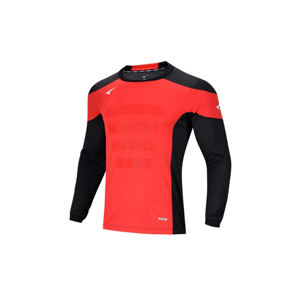 8f1473124 Get Quotations · Ucan Soccer Goalkeeper Jersey Padded Goalie Jersey Youth  Men Long Sleeve Shirt