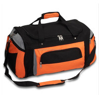 vacation duffel travel bag with secret pocket
