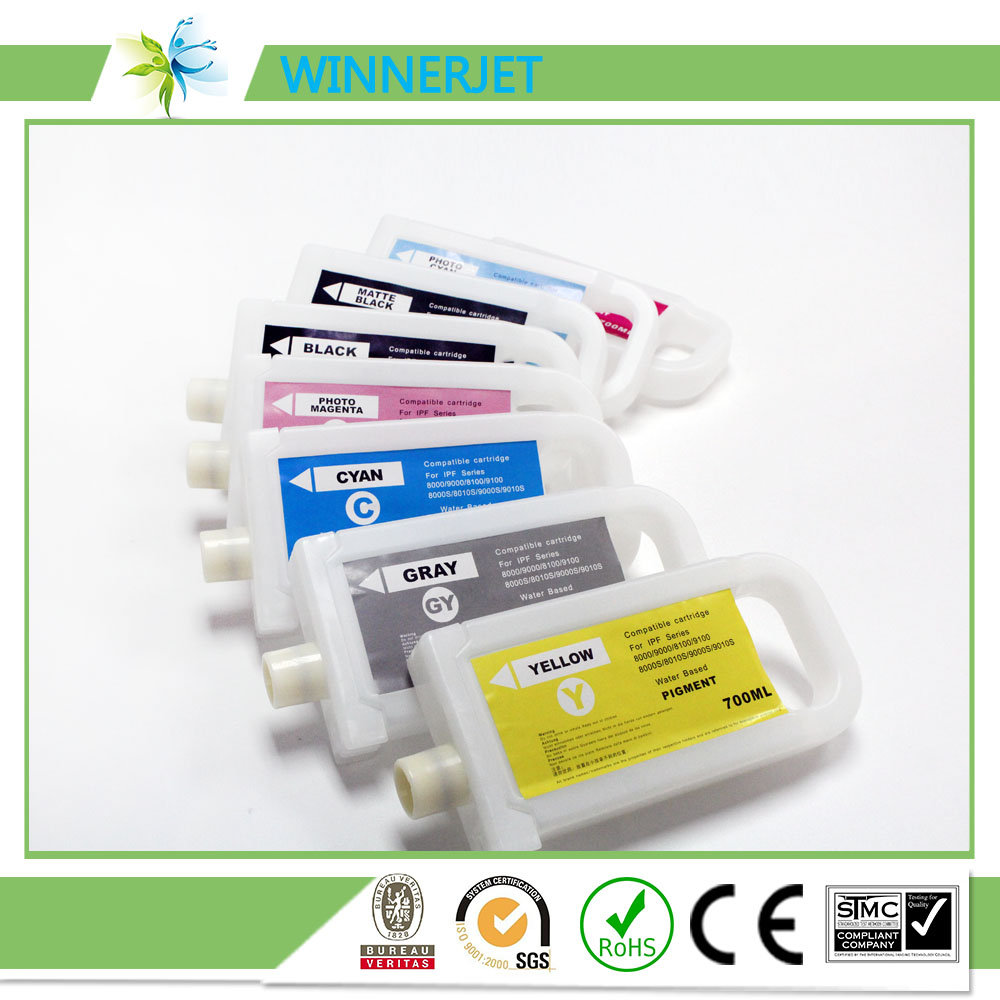 ink cartridge PFI701 for canon ipf 8000s 9000s 8000 9000 ,refill cartridge for canon 700ml