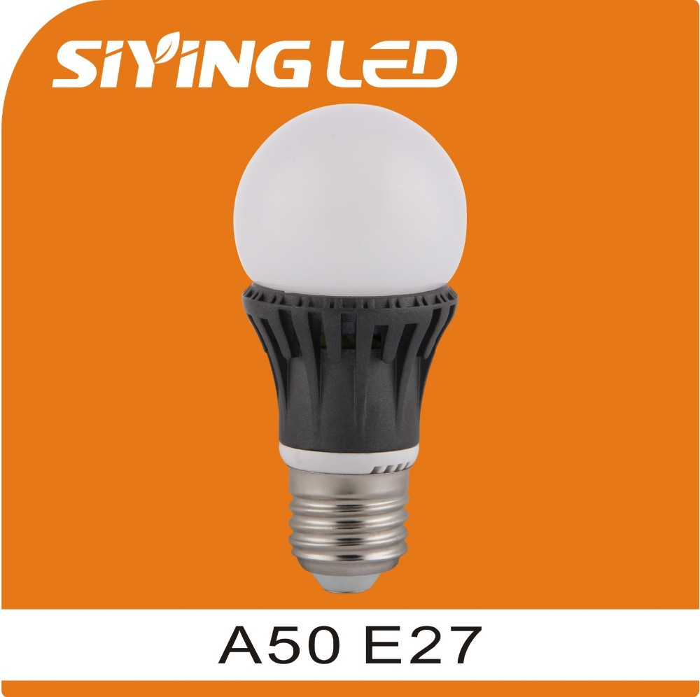 A50 E27 casting Aluminum LED Bulb 6W 3 year warranty