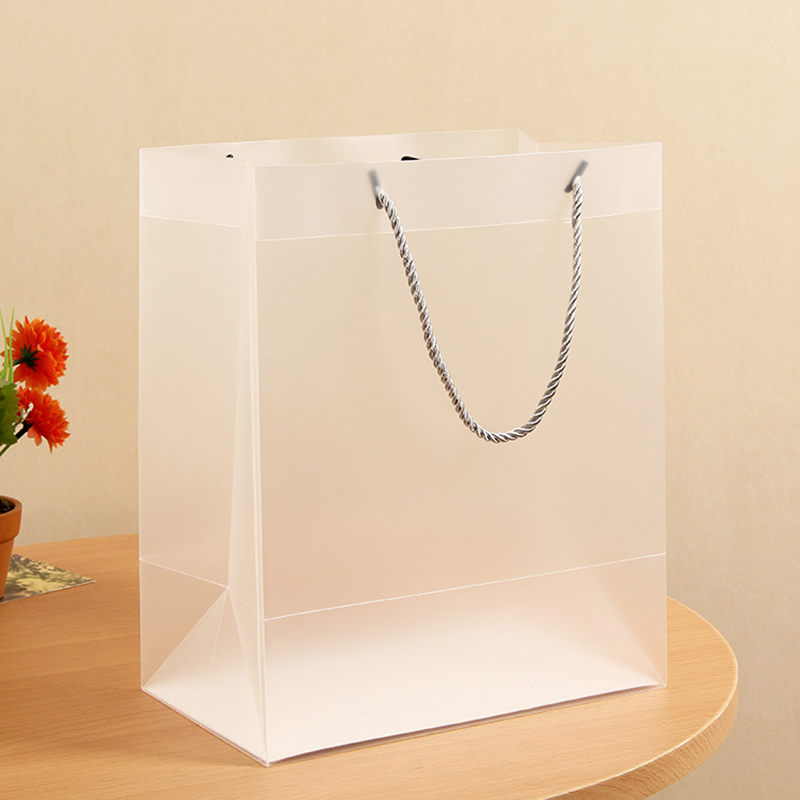 New Clear Tote Bag PP Transparent Shopping Bag Shoulder Handbag Stadium Approved Environmentally Storage Bags