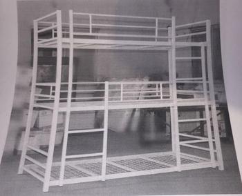 School Furniture Metal Triple Bunk Bed Double Decker Bed