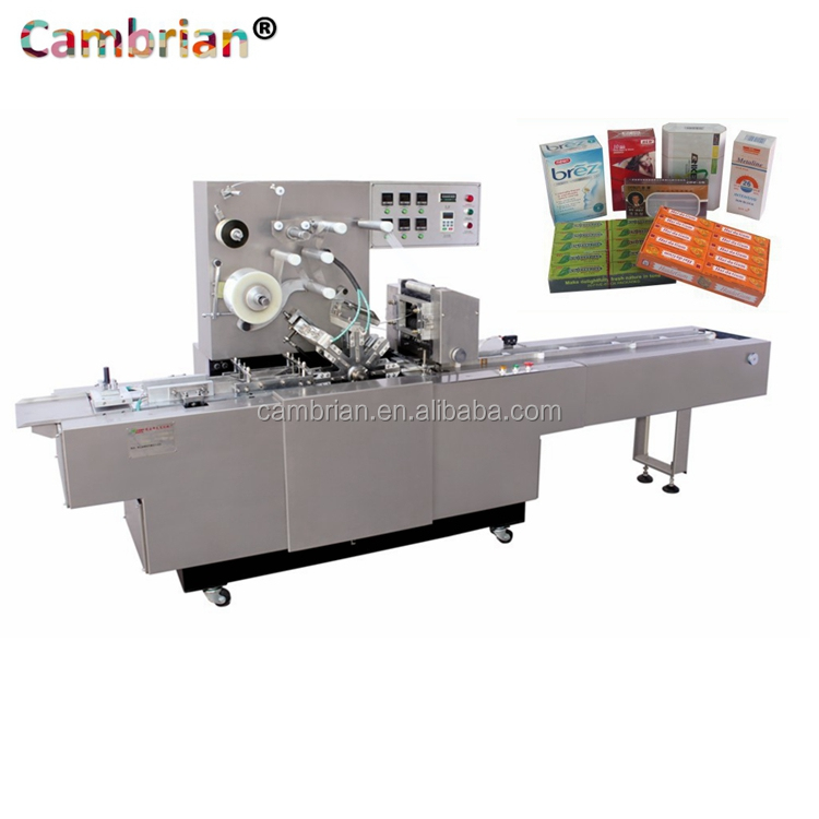 Widely usage perfume box cellophane film packing machine with best price