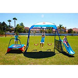 """IronKids """"Cooling Mist"""" Inspiration 250XL Fitness Playground Metal Swing Set 