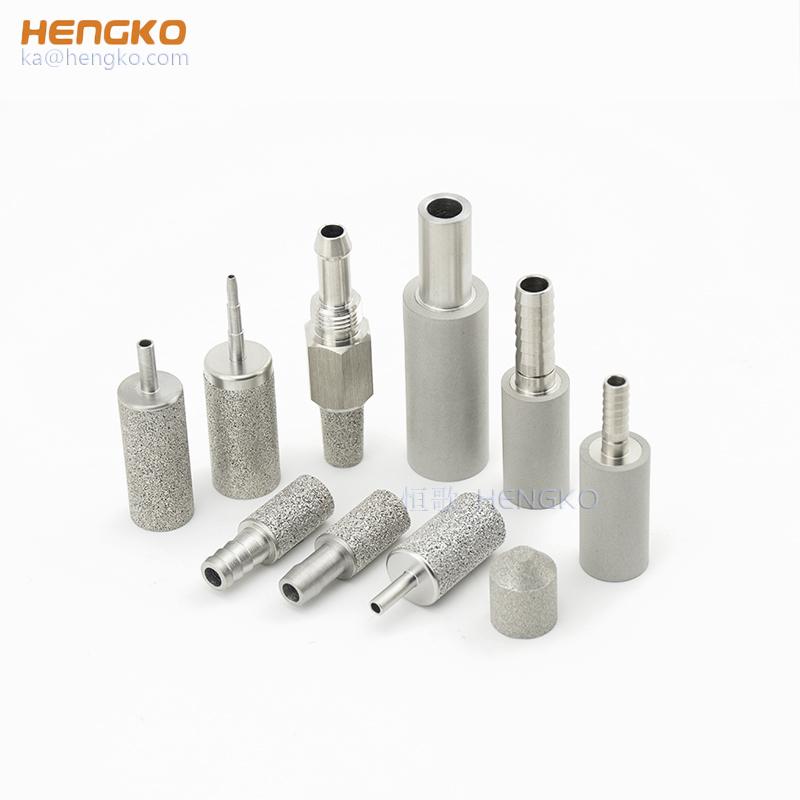 HENGKO sintered स्टेनलेस स्टील 316 एसएस नैनो हवा बुलबुला पत्थर के लिए घर काढ़ा बियर किट