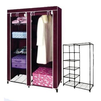 Portable Folding Fabric Wardrobe/closet/canvas/cabinet/almirah Design