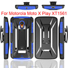 New Clips Mobile phone Cover For Moto X Play Case Hybrid Heavy Duty Rugged Armor Cover For Motorola X Play Holster Combo Case