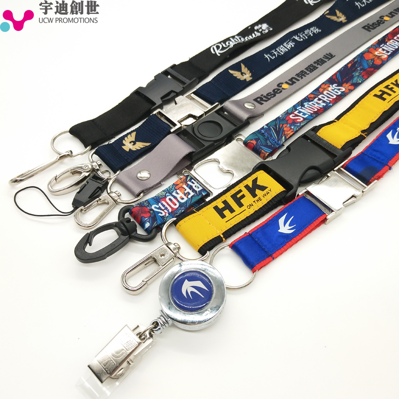 Cute full color printing sublimation animal neck lanyard with hooks