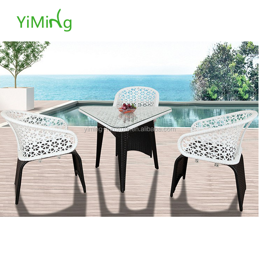 Outdoor furniture triangle cafe table modern furniture coffee shop table and chair