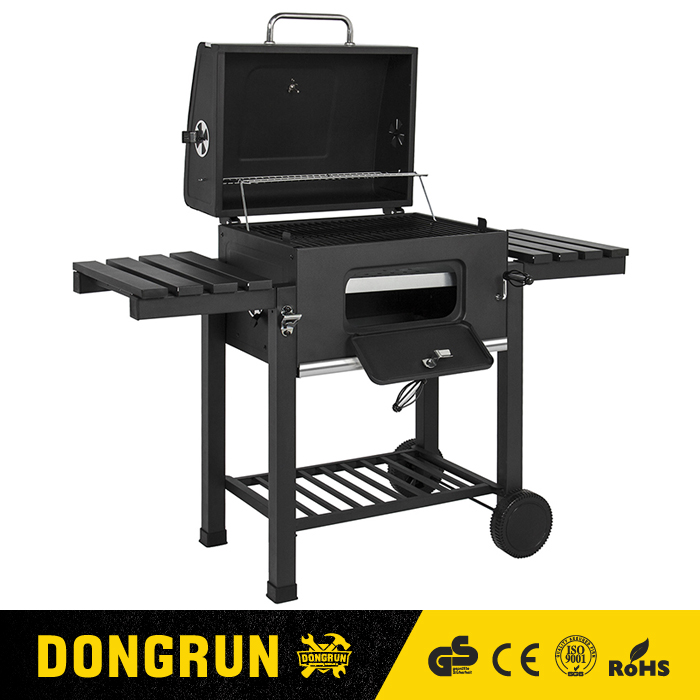 Good quality rotary BBQ grill folding portable outdoor indoor CE ROHS 131 DONGRUN brand