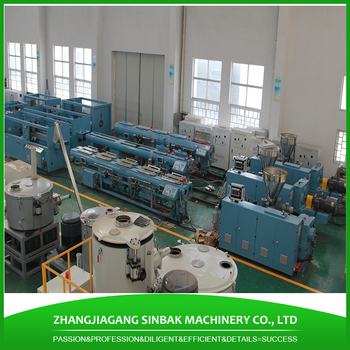 Sinbak Pvc Pipe Clamp Making Machine 6inch Cpvc Pipe Extrusion Line With Overseas Install