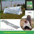 Emergency Blanket Waterproof 240 150cm Travel Kit Survival Tool Outdoor Camping Climbing Equipment curtain Tent Gear