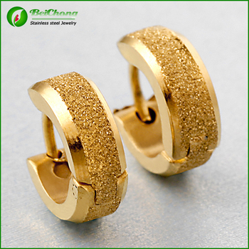 67c5929ff96b76 Trendy Mens Stainless Steel Tribal Gold Hoop Earrings - Buy Hoop ...