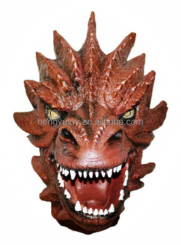 Genuine Latex dragon Masterpiece Costume Lord of the Rings Smaug mask