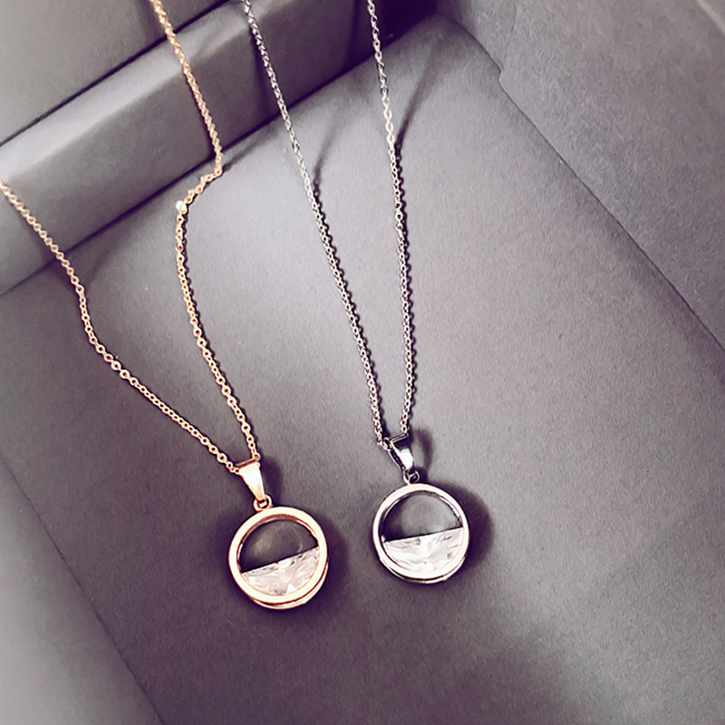 YFY147 Yiwu Huilin Jewelry Personalized Cross X chunky heart love crystal silver necklace