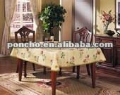 Round Decorative Vinyl Table Cover with Pretty Pattern