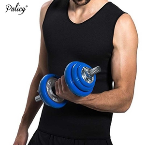 Wholesale sweat body shaper man gym sport Neoprene vest with zipper Wholesale Men's Body Shaper Neoprene Corset