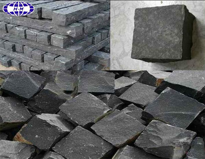 Натуральный Черный Базальтовый Камень Хайнань