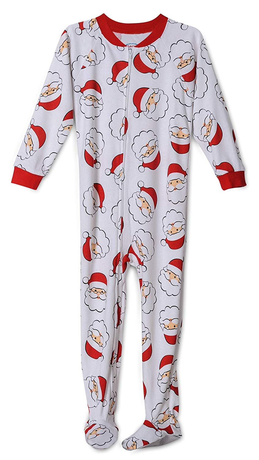 79bb9f6b47 Get Quotations · Santa Claus Print Footed Onesie Christmas Pajama