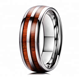 Wooden Rings For Men Blank KOA Wood Inlay Engagement Wedding Band Couple Tungsten Carbide Rings Set