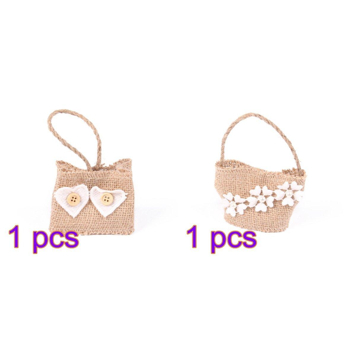 Buy Tinksky Christmas Gift Bags Linen Drawstring Bags Birthday Gift ...