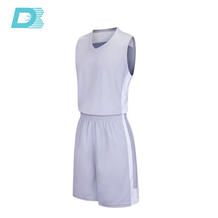 Günstige Reversible Wholesale Team Weiß Basketball Jersey Design