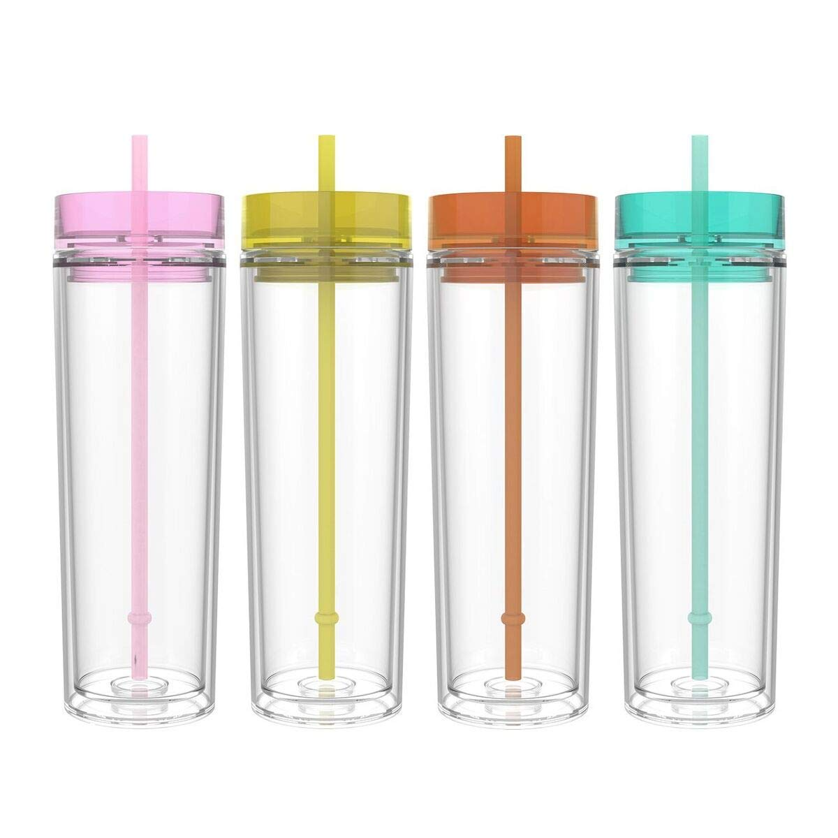 76ae7741e97 Get Quotations · Maars Classic Insulated Skinny Tumblers 16 oz. | Double  Wall Acrylic | 4 pack