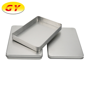 Customizable silver mask packaging thin metal cosmetic tin box