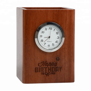 Hot clock product wooden table clock fashionable desk clock
