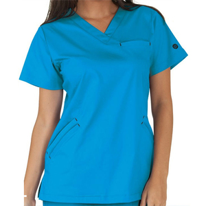 Ladies V-neck Medical Uniform Scrubs,Hot Style Hospital Uniform Design with Factory Price,BI19021