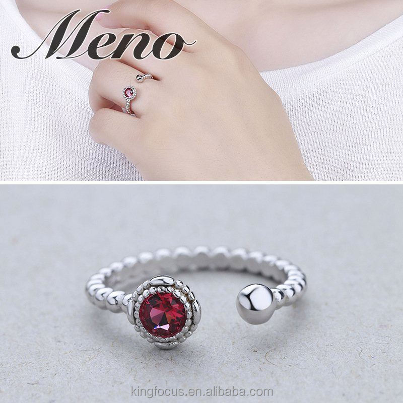 Meno S925 silver pearl CZ setting ring Korean style high class jewelry gift