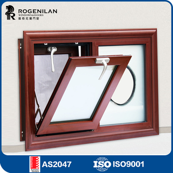 ROGENILAN 108 Customized Cheap French Style Small Kitchen Aluminium Awning Window With Exhaust Fan