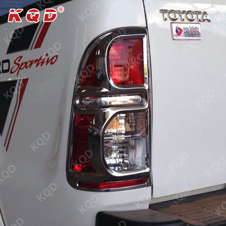 Car 4x4 chrome accessories Good quality ABS Plastic Chrome tail lamp cover for hilux vigo accessories 2012~on