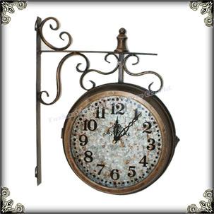 e6fb91392bc Estação De Trem Antigo Pendurado Relógios De Parede Dupla Face Rústico -  Buy Relógio De Parede Rústico