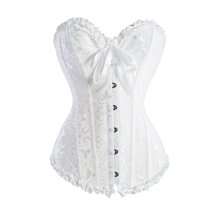 1e6d31634d2 Overbust Pattern Corset Plain White Corset Top To Wear Out - Buy ...