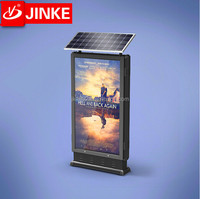 Metal Frame Roadside Standing Led Backlit Rotating Posters Solar Powered Light Box Signs