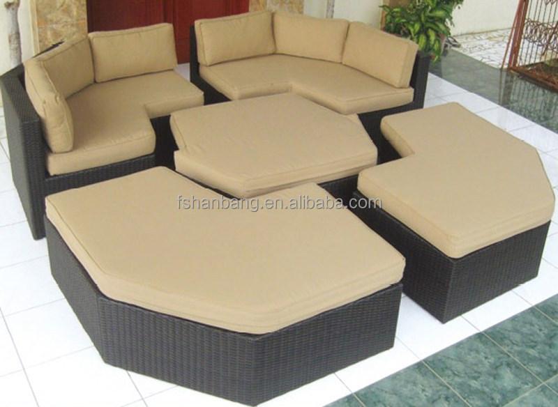 Ext rieur en osier rotin meubles de jardin ensemble canap for Ensemble canape exterieur