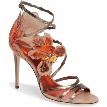 7d3fe5e94ad women fancy sandals stiletto high heel 12cm sexy flower strap sandals woman shoes  leather sandals