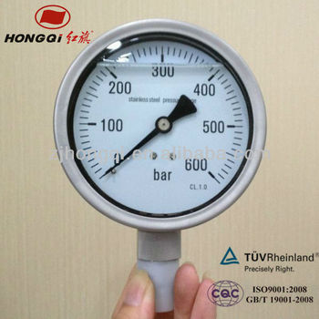 "YBF100 4"" wika SS oil filled pressure gauge"