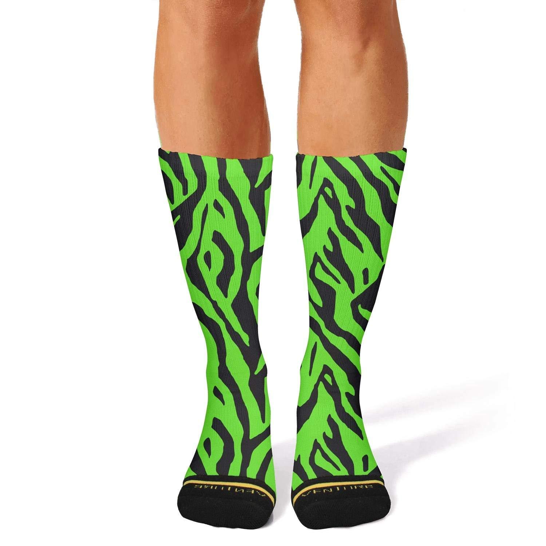 89f8848b9e Women's Bright rainbow Zebra stripe compression novelty socks aesthetic  softball calf socks