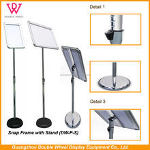 A3,A4 snap frame floor menu poster display stand, Aluminum snap frame stand poster display stand