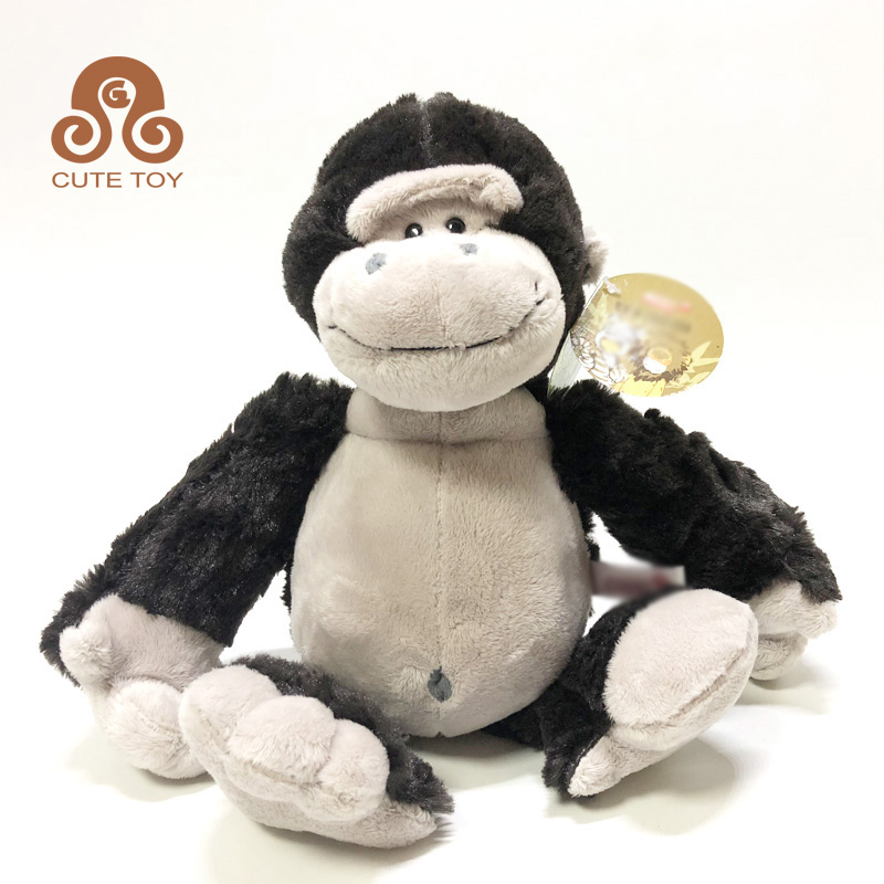 Black soft animal doll plush monkey orangutan stuffed big toys