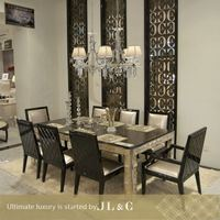 extension dining table in luxury furniture from JL&C furniture-14 series dinning set