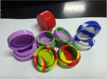 Nonstick silcone container jars dab silicone container/jars/balls with various colors