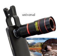 Universal 8X Optical Zoom Telescope Camera Mobile Phone Lens For Huawei G6 G7 G8 MATE 2 7 3X 6X Honor 7i 4a glass + metal lenses